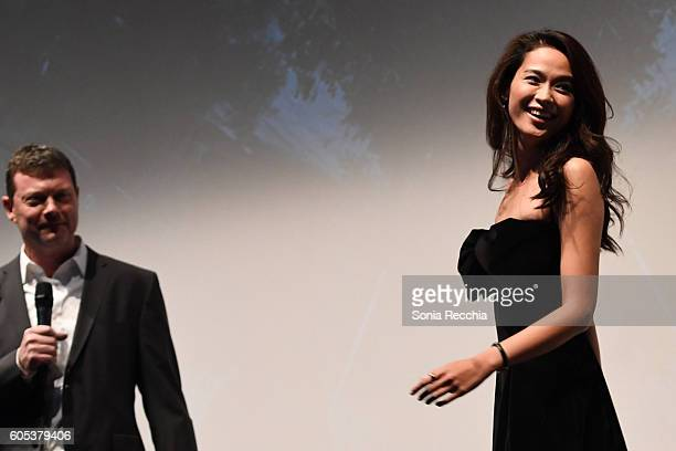 George Nolfi and Jingjing Qu attend Birth Of A Dragon TIFF premiere and afterparty on September 13 2016 in Toronto Canada