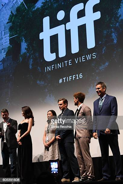 George Nolfi Jingjing Qu and Philip Ng and Michael London attend Birth Of A Dragon TIFF premiere and afterparty on September 13 2016 in Toronto Canada