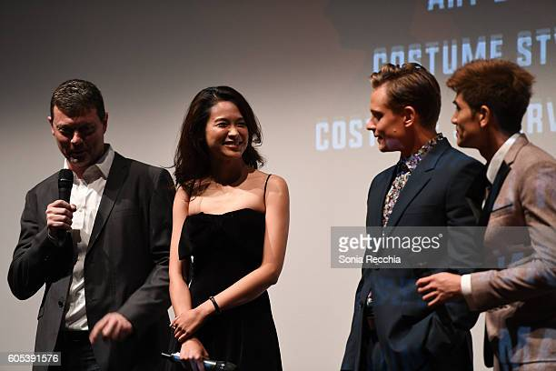 George Nolfi Jingjing Qu Billy Magnussen and Philip Ng attend Birth Of A Dragon TIFF premiere and afterparty on September 13 2016 in Toronto Canada