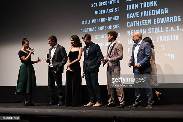 George Nolfi Jingjing Qu Billy Magnussen Philip Ng and Simon Yin attend Birth Of A Dragon TIFF premiere and afterparty on September 13 2016 in...