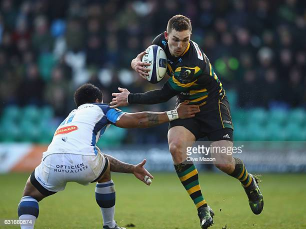 George North of Northampton in action during the European Rugby Champions Cup match between Northampton Saints and Castres Olympique at Franklins...