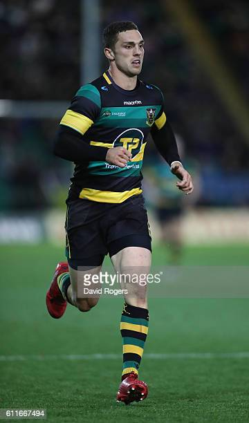 George North of Northampton looks on during the Aviva Premiership match between Northampton Saints and Exeter Chiefs at Franklin's Gardens on...