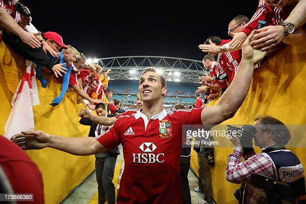 George North of the Lions walks down the tunnel ands receives the applause of the crowd after their victory during the International Test match...