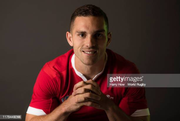 George North of Wales poses for a portrait during the Wales Rugby World Cup 2019 squad photo call on on September 17, 2019 in Kitakyushu, Fukuoka,...