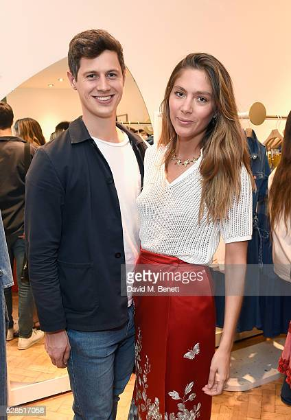 George Northcott and Quentin Jones attend Mih Jeans' 10th Anniversary Celebration at their popup concept store on Upper James Street on May 5 2016 in...