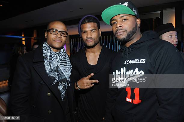 George O Gore Damien Dante Wayans and Craig Wayans attend BET Networks New York Premiere Of Real Husbands of Hollywood And Second Generation Wayans...