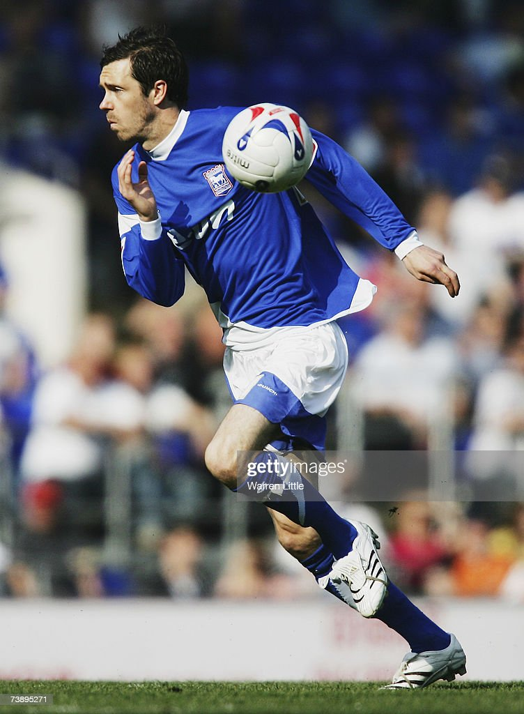 George O'Callaghan of Ipswich in action during the Coca-Cola Championship Match between Ipswich Town and Derby County at Portman Road on April 14, 2007 in Ipswich, England.