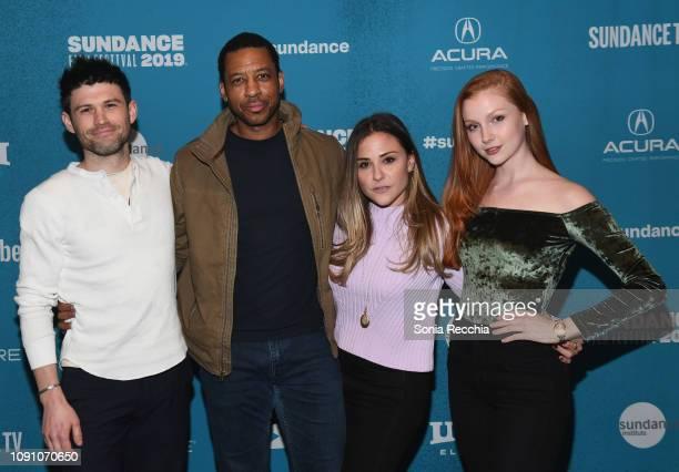 George Olesky Joe Holt Kate Krieger and Chandler Lovelle attends the Indie Episodic Program 2 during the 2019 Sundance Film Festival at Prospector...