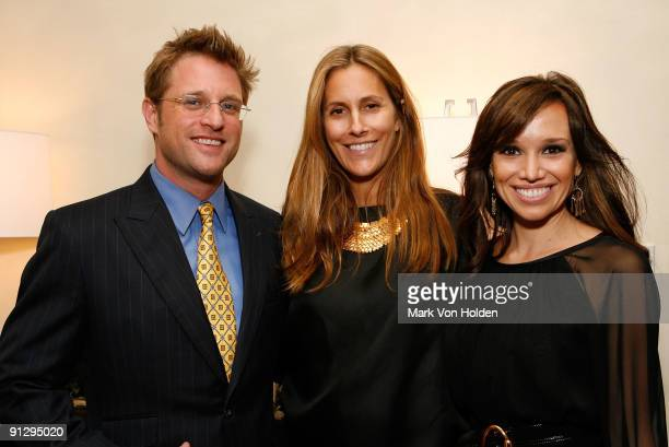 George Oliphant, Gotham Magazine Editor in chief Cristina Cuomo and Sara Gore attend Gotham magazine's Broker Reception at Silver Towers on September...