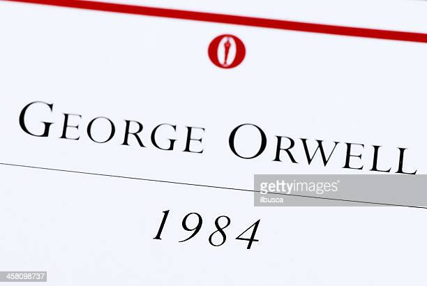 george orwell 1984 book macro - 1984 stock pictures, royalty-free photos & images