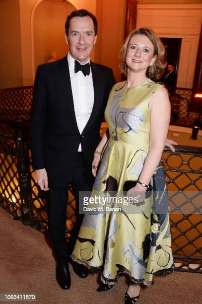 George Osborne and Frances Osborne attend The 64th Evening Standard Theatre Awards at the Theatre Royal Drury Lane on November 18 2018 in London...