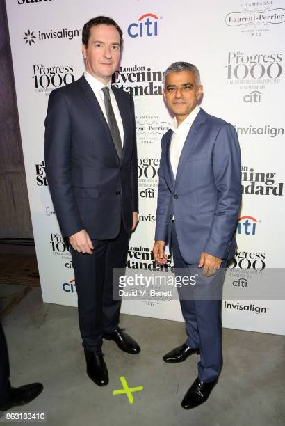 George Osborne and Sadiq Khan attend The London Evening Standard's Progress 1000 London's Most Influential People in partnership with Citi on October...
