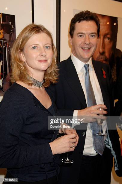 George Osborne and wife attend a private view of photographs dedicated to Sir Eric Clapton to celebrate his latest book 'Eric Clapton The...