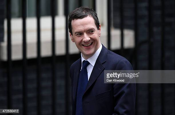 George Osborne arrives at Downing Street on May 8 2015 in London England After the United Kingdom went to the polls in a closely fought General...