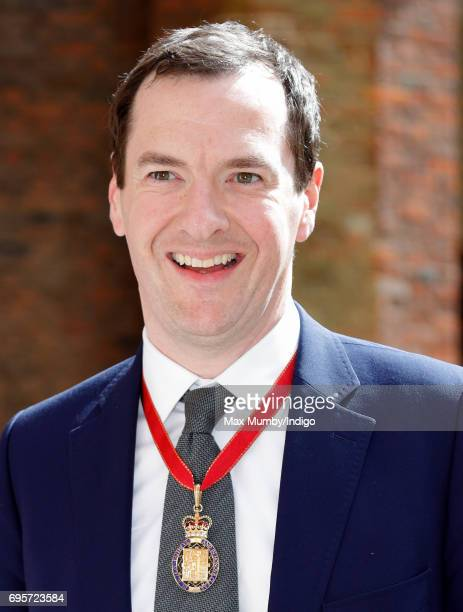 George Osborne arrives to attend Evensong at the Chapel Royal Hampton Court Palace to celebrate the Centenary of the founding of the Companions of...