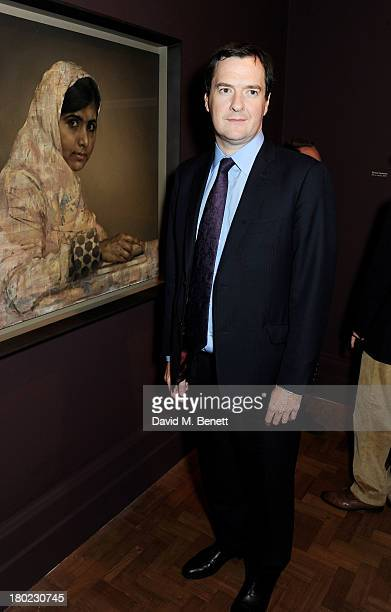 George Osborne attends a private view of 'Portraits' a new exhibition by Jonathan Yeo at the National Portrait Gallery on September 10 2013 in London...