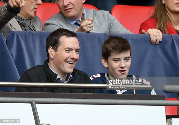 George Osborne attends the Detroit Lions v Kansas City Chiefs NFL International Series Match at Wembley Stadium on November 1 2015 in London England