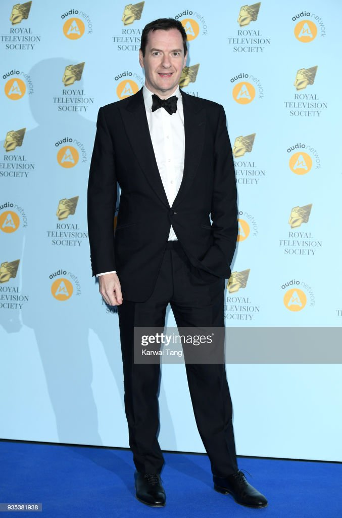 George Osborne attends the RTS Programme Awards held at The Grosvenor House Hotel on March 20, 2018 in London, England.