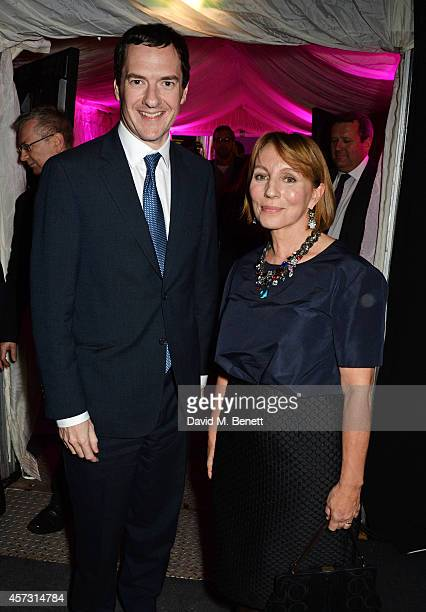 George Osborne , Chancellor of the Exchequer, and Sarah Sands, editor of the London Evening Standard, attend the London Evening Standard's '1000:...