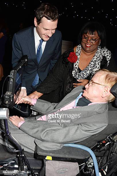 George Osborne Chancellor of the Exchequer and Stephen Hawking attend the London Evening Standard's '1000 London's Most Influential People' at The...