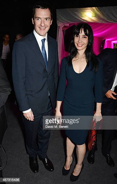 George Osborne, Chancellor of the Exchequer, and Tamara Rojo attend the London Evening Standard's '1000: London's Most Influential People' at The...