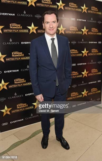 George Osborne editor of the London Evening Standard arrives at the London Evening Standard British Film Awards 2018 at Claridge's Hotel on February...