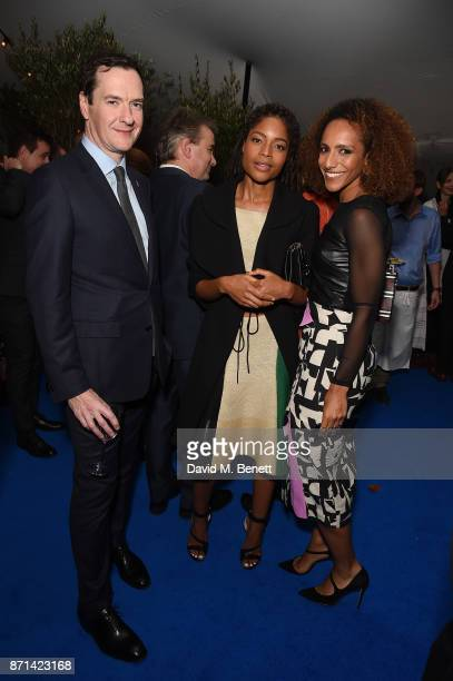 George Osborne Naomie Harris and Afua Hirsch attend a dinner hosted by Jonathan Newhouse and Albert Read for Edward Enninful to celebrate the...