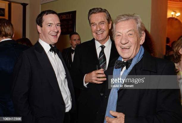 George Osborne Rupert Everett and Sir Ian McKellen attend The 64th Evening Standard Theatre Awards at the Theatre Royal Drury Lane on November 18...
