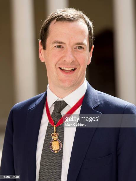 George Osbourne attends Evensong in celebration of the centenary of the Order of the Companions of Honour at Hampton Court Palace on June 13 2017 in...
