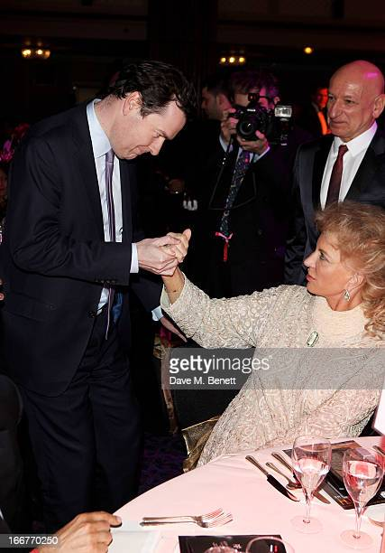 George Osbourne Princess Michael of Kent and Sir Ben Kingsley attend The Asian Awards at The Grosvenor House Hotel on April 16 2013 in London England