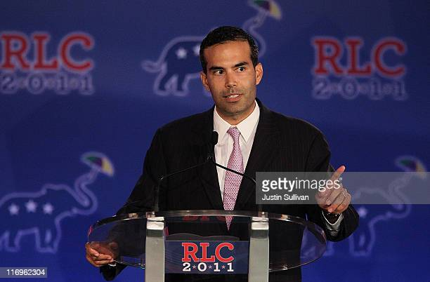 George P Bush speaks during the 2011 Republican Leadership Conference on June 18 2011 in New Orleans Louisiana The 2011 Republican Leadership...