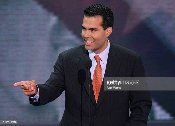 George P Bush speaks on night two of the Republican National Convention August 31 2004 at Madison Square Garden in New York City