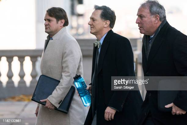 George P Kent a senior State Department official arrives at the Longworth House Office Building to appear before the House Intelligence Committee on...