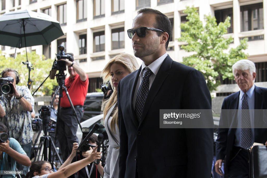 Sentencing Of Former Trump Campaign Adviser George Papadopoulos : News Photo