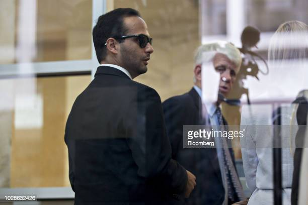 George Papadopoulos former campaign adviser for Donald Trump stands inside federal court in Washington DC US on Friday Sept 7 2018 Papadopoulos is...