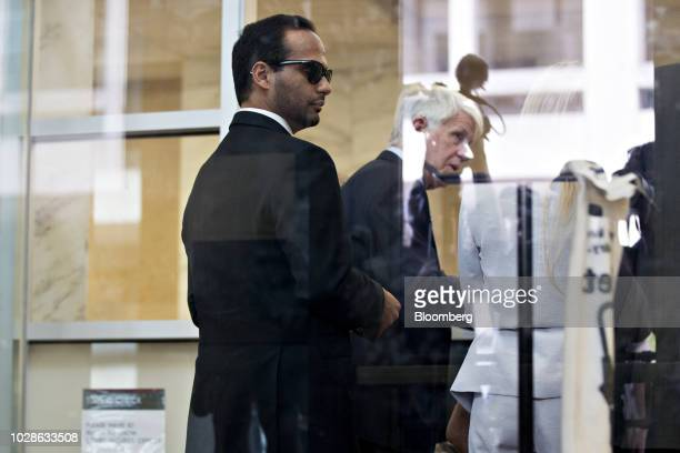 George Papadopoulos former campaign adviser for Donald Trump stands in federal court in Washington DC US on Friday Sept 7 2018 Papadopoulos is...