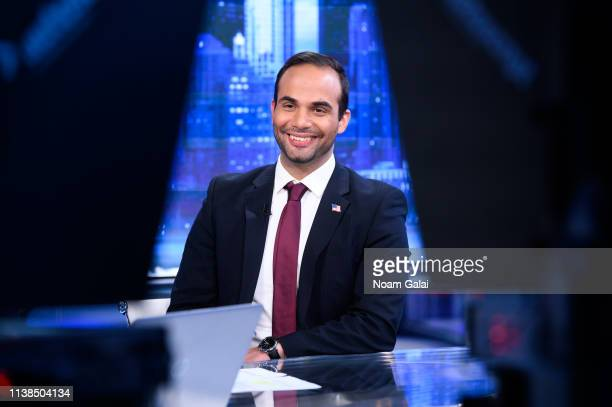 George Papadopoulos visits The Story With Martha MacCallum at Fox News Studios on March 26 2019 in New York City