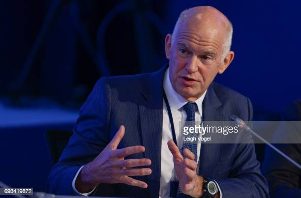George Papandreou former Prime Minister The Hellenic Republic speaks during the Concordia Europe Summit on June 7 2017 in Athens Greece
