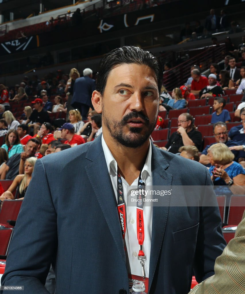 George Parros of the NHL attends the 2017 NHL Draft at the United Center on June 24, 2017 in Chicago, Illinois.