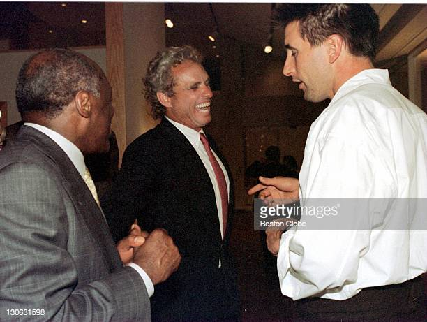 George party at the Art Institute of Chicago Willie Brown mayor of San Francisco Joe Kennedy and actor William Baldwin talk it up at the party