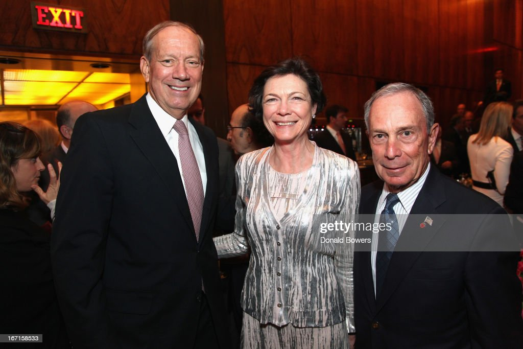 George Pataki, Diana Taylor and Michael Bloomberg attend The Through The Kitchen Party Benefit For Cancer Research Institute on April 21, 2013 in New York City.