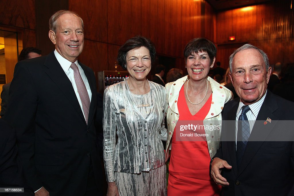 George Pataki, Diana Taylor, Jill Bloom and Michael Bloomberg attend The Through The Kitchen Party Benefit For Cancer Research Institute on April 21, 2013 in New York City.