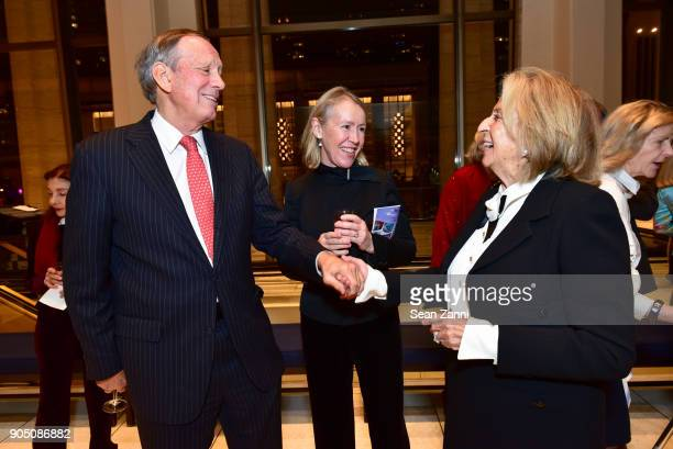 George Pataki Libby Pataki and Daisy Soros attend Friends of Budapest Festival Orchestra Gala 2018 at David Geffen Hall on January 14 2018 in New...