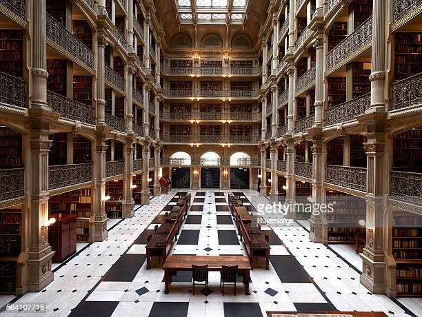 George Peabody Library formerly the Library of the Peabody Institute of the City of Baltimore is part of the Johns Hopkins Sheridan Libraries...