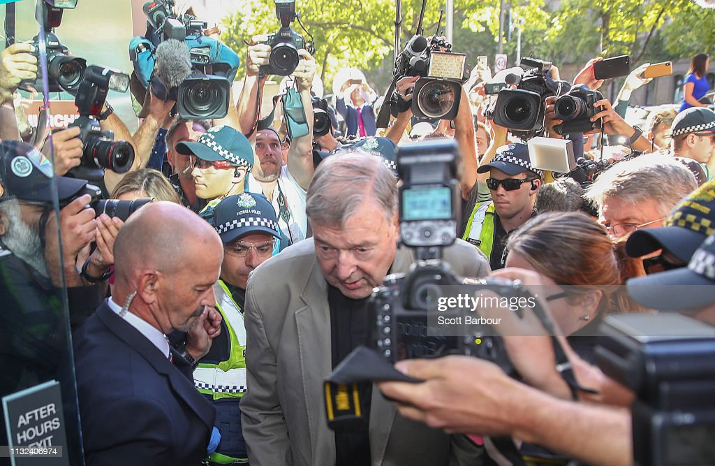 Cardinal Pell Attends Court For Sentencing On Historical Child Abuse Charges : News Photo