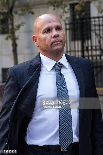 George Perez a former computer programmer working under Bernie Madoff arrives at Federal Court to begin a trial being brought against him by the...
