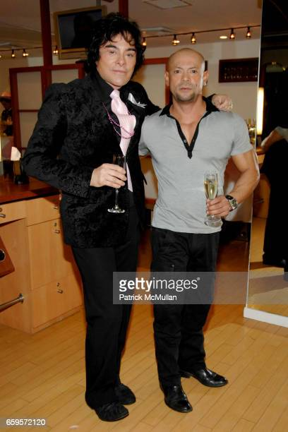 "George Perez and Mario Andino attend Sofia's ""Hair for Health"" Annual Party at the Rodolfo Valentin Salon and Spa on October 11, 2009 in New York..."