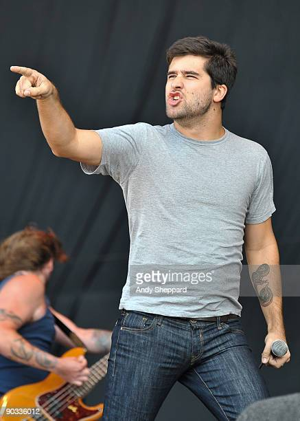 George Petit of Alexisonfire performs on stage on Day 1 of the Reading Festival 2009 on August 28 2009 in Reading England