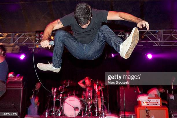 George Pettit of Alexisonfire perform at Day 1 of the Reading Festival on August 28 2009 in Reading England