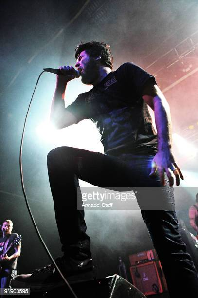 George Pettit of Alexisonfire performs on stage as part of the Eastpak Antidote Tour at The Forum on October 14 2009 in London England
